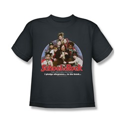 School Of Rock - Big Boys I Pledge Allegiance T-Shirt In Charcoal