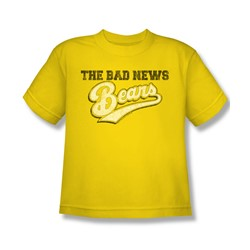 Bad News Bears - Big Boys Logo T-Shirt In Yellow