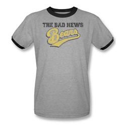 Bad News Bears - Mens Logo Ringer T-Shirt In Heather/Black