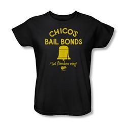 Bad News Bears - Womens Chico'S Bail Bonds T-Shirt In Black