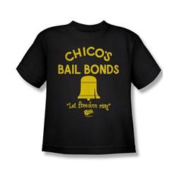 Bad News Bears - Big Boys Chico'S Bail Bonds T-Shirt In Black