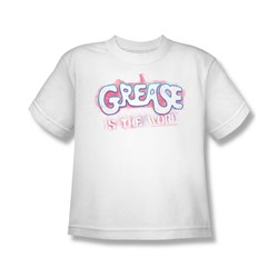 Grease - Big Boys Grease Is The Word T-Shirt In White