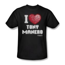 Saturday Night Fever - Mens I Heart Tony T-Shirt In Black