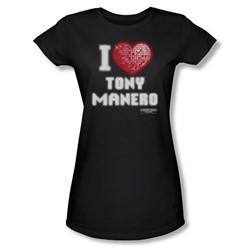 Saturday Night Fever - Womens I Heart Tony T-Shirt In Black