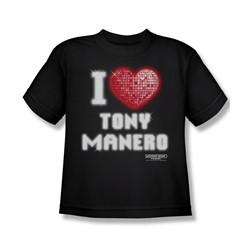 Saturday Night Fever - Big Boys I Heart Tony T-Shirt In Black