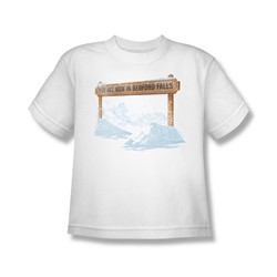 Its A Wonderful Life - Big Boys Bedford Falls T-Shirt In White