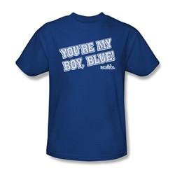 Old School - Mens My Boy Blue T-Shirt In Royal