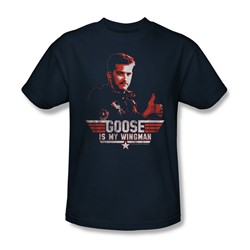 Top Gun - Mens Wingman Goose T-Shirt In Navy
