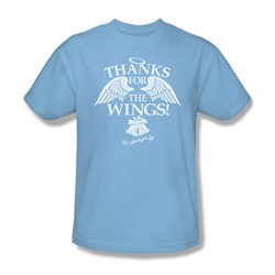 Its A Wonderful Life - Mens Dear George T-Shirt In Light Blue