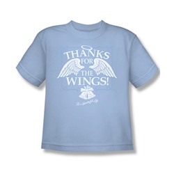 Its A Wonderful Life - Big Boys Dear George T-Shirt In Light Blue