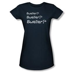 Ferris Buellers Day Off - Womens Bueller? T-Shirt In Navy