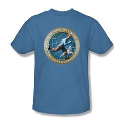 Tintin - Mens Around The Globe T-Shirt In Carolina Blue