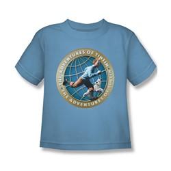 Tintin - Little Boys Around The Globe T-Shirt In Carolina Blue