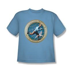 Tintin - Big Boys Around The Globe T-Shirt In Carolina Blue