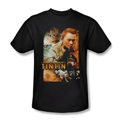 Tintin - Mens Adventure Poster T-Shirt In Black