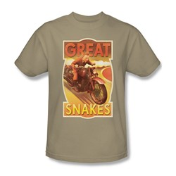 Tintin - Mens Great Snakes T-Shirt In Sand