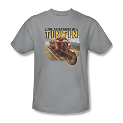 Tintin - Mens Open Road T-Shirt In Silver