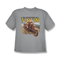 Tintin - Big Boys Open Road T-Shirt In Silver