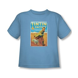 Tintin - Toddler Tintin & Snowy T-Shirt In Carolina Blue