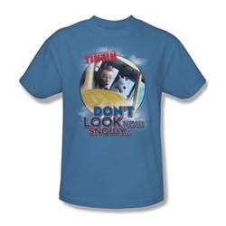 Tintin - Mens Don'T Look Now T-Shirt In Carolina Blue