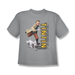Tintin - Big Boys Come On Snowy T-Shirt In Silver