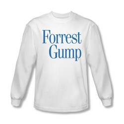 Forrest Gump - Mens Logo Long Sleeve Shirt In White