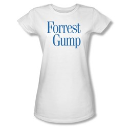 Forrest Gump - Womens Logo T-Shirt In White