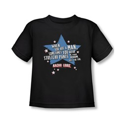 Nacho Libre - Toddler Stetchy Pants T-Shirt In Black