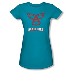Nacho Libre - Womens Mask T-Shirt In Turquoise