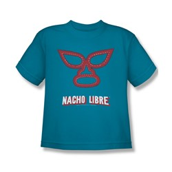 Nacho Libre - Big Boys Mask T-Shirt In Turquoise