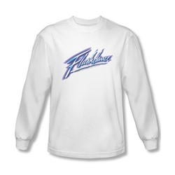 Flashdance - Mens Logo Long Sleeve Shirt In White
