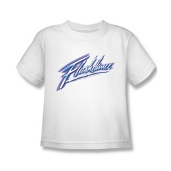 Flashdance - Little Boys Logo T-Shirt In White
