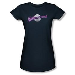 Galaxy Quest - Womens Logo T-Shirt In Navy