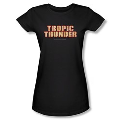 Tropic Thunder - Womens Title T-Shirt In Black