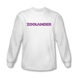 Zoolander - Mens Logo Long Sleeve Shirt In White