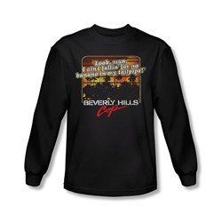 Beverly Hills Cop - Mens Banana In My Tailpipe Long Sleeve Shirt In Black