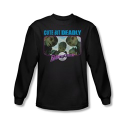 Galaxy Quest - Mens Cute But Deadly Long Sleeve Shirt In Black
