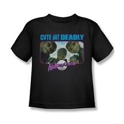 Galaxy Quest - Little Boys Cute But Deadly T-Shirt In Black