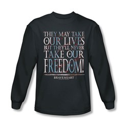 Braveheart - Mens Freedom Long Sleeve Shirt In Charcoal