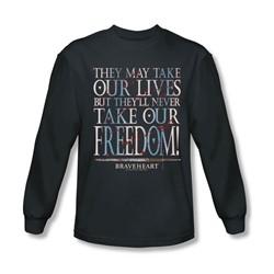 Braveheart - Mens Freedom Long Sleeve Shirt In Charcoal