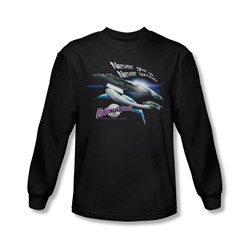 Galaxy Quest - Mens Never Surrender Long Sleeve Shirt In Black