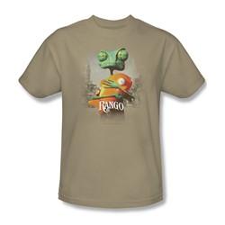 Rango - Mens Poster Art T-Shirt In Sand