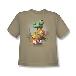 Rango - Big Boys Poster Art T-Shirt In Sand