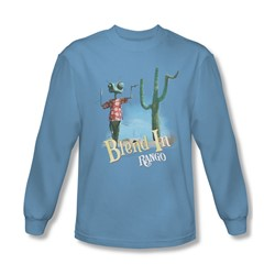 Rango - Mens Blend In Long Sleeve Shirt In Carolina Blue
