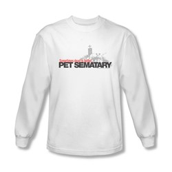 Pet Sematary - Mens Logo Long Sleeve Shirt In White