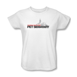 Pet Sematary - Womens Logo T-Shirt In White