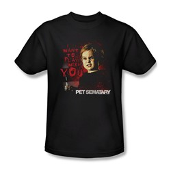 Pet Sematary - Mens I Want To Play T-Shirt In Black