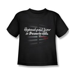 American Gigolo - Little Boys Highest Paid T-Shirt In Black