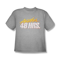 Another 48 Hours - Big Boys Distressed Logo T-Shirt In Heather