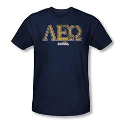 Old School - Mens Leo T-Shirt In Navy